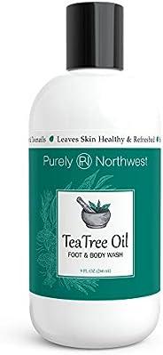 Purely Northwest Antifungal Tea Tree Oil Body Wash, Helps Athletes Foot, Ringworm, Toenail Fungus, Jock Itch,
