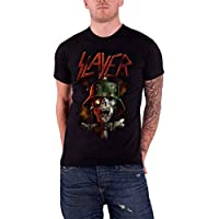 Slayer T Shirt Soldier Cross Zombie Skull band Logo Official Mens Black