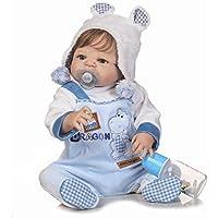 Realistic Lifelike Baby Boy Toddler Toy 23 Inch 57cm Soft Silicone Reborn Baby Doll Handmade Full Body Vinyl Newborn Dolls Anatomically Correct Xmas Gift