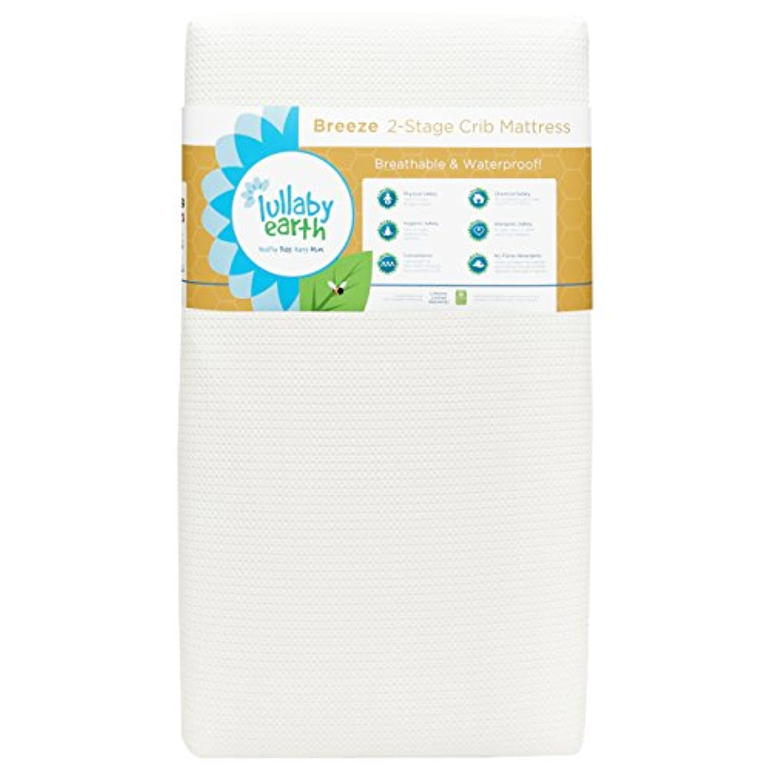 Lullaby Earth Breeze 2- Stage Crib Mattress - White by Naturepedic [並行輸入品]