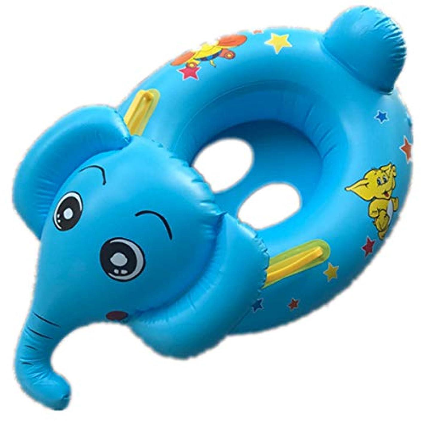 日帰り旅行にランデブー日焼けBREAORTION スイミングリング 安全シート付き浮き輪 ベビープール浮き輪 夏水遊び お風呂 ビーチ おもちゃ 子供 赤ちゃん 年齢 3-36ヶ月 65x50cm ブルー ZB135