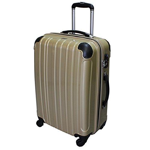 (シェルポッド) shellpod スーツケース HZ-500 中型 Mサイズ 鏡面シャンパンゴールド【M/GL】