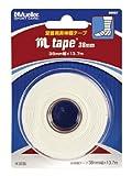 Mueller(ミューラー) Mテープ 38mm 1個パック ブリスターパック Mtape Blister 1roll Pack 固定用 非伸縮 コットンテープ 50087 ホワイト 38mm