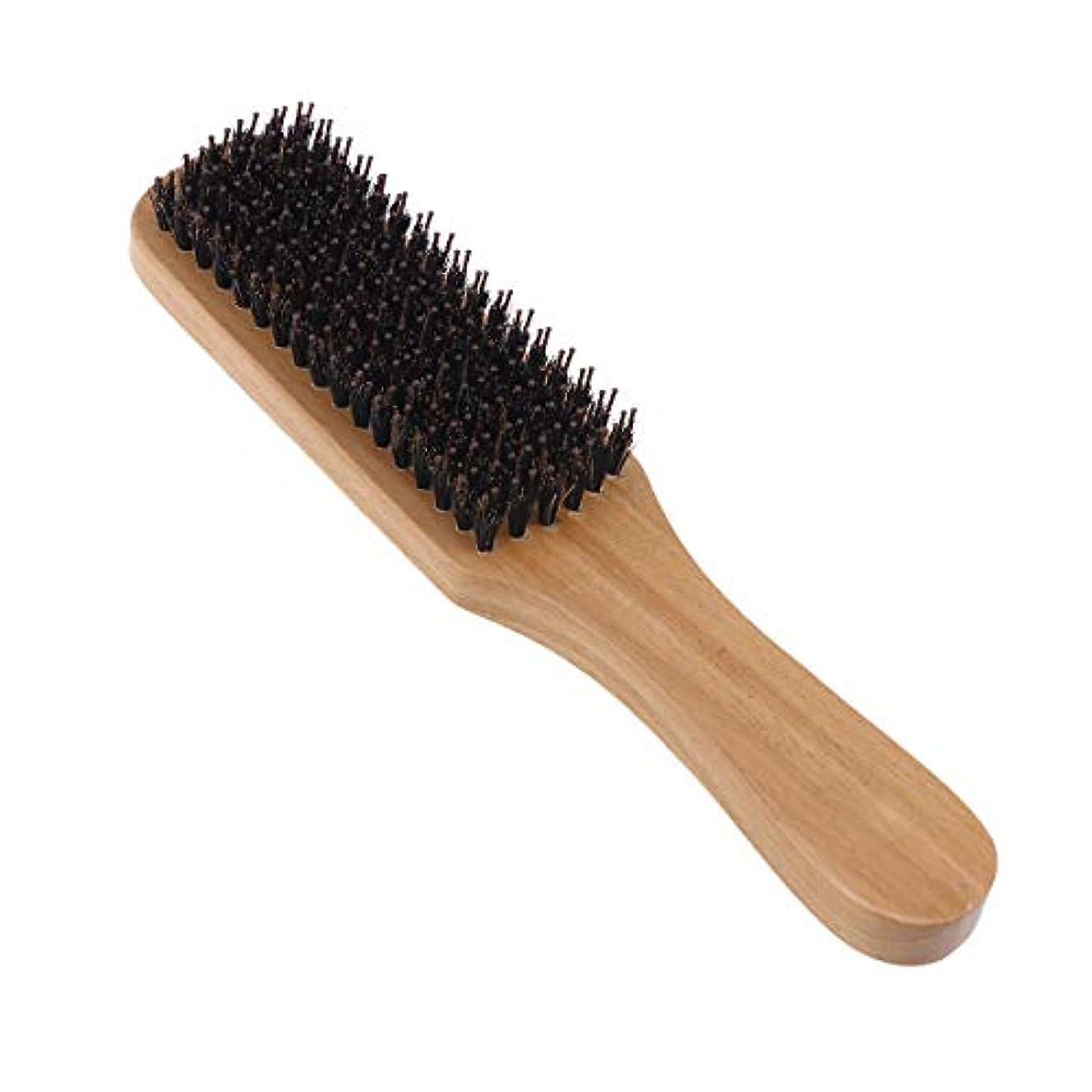 弁護接触資金Lurrose 世帯の理髪店のための剛毛のブラシの木製のハンドルの口ひげの毛バスブラシ