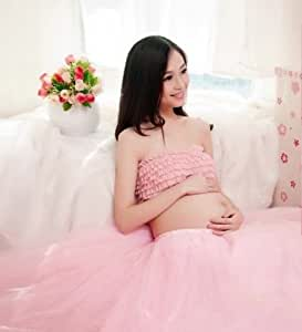 【マタニティ ふわふわシフォン ドレス】フォト 撮影 衣装 妊娠中 マタママ プレママ 臨月 写真 妊娠中の姿を記念に マタニティフォトや スタジオ撮影等に最適なドレス