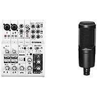 YAMAHA ウェブキャスティングミキサー 6チャンネル AG06 + audio-technica オーディオテクニカ コンデンサーマイクロホン AT2020 生放送・録音・ポッドキャスト・実況・DTM