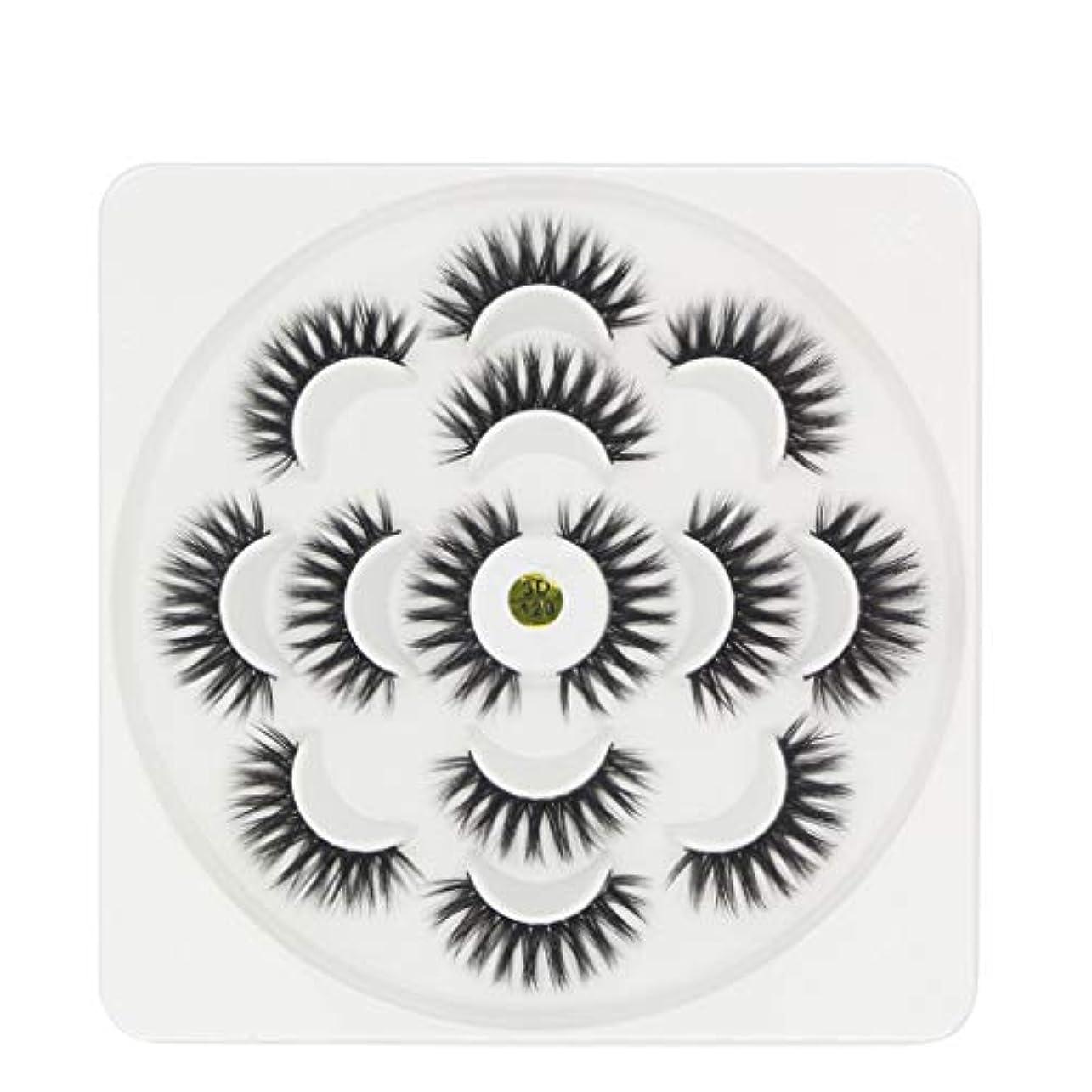 ロバカイウス縫い目7ペア高級3Dまつげふわふわストリップまつげロングナチュラルパーティー
