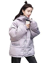 JIANGWEI レディース ショート ジャケット ダウン コート ファッション 棉服 防寒 カジュアル 冬 ゆったり BF風 アウター 通勤 通学 可愛い