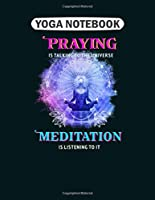 Yoga Notebook: meditation llama with third eye  College Ruled - 50 sheets, 100 pages - 8.5 x 11 inches