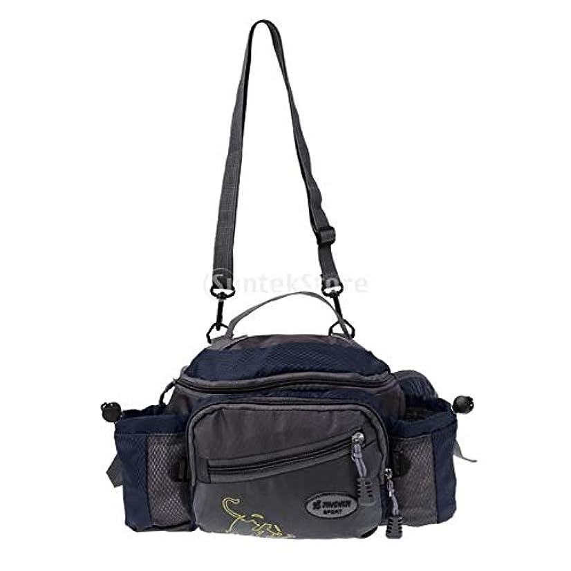 テンポ会員権限ナイロン製 釣りタックルバッグ 多機能 ショルダー ウエスト フィッシング ギア 3色選べる - 青