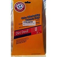 Arm & Hammer Odor Eliminating Vacuum Bags Type U Vacuum Cleaner Bags ... Fits Dirt Devil Swivel Glide, Platinum Force Bagged, Featherglide, Breeze Lightweight, Ultra MVP and Magnum MVP Uprights ... Pkg of 3 [並行輸入品]