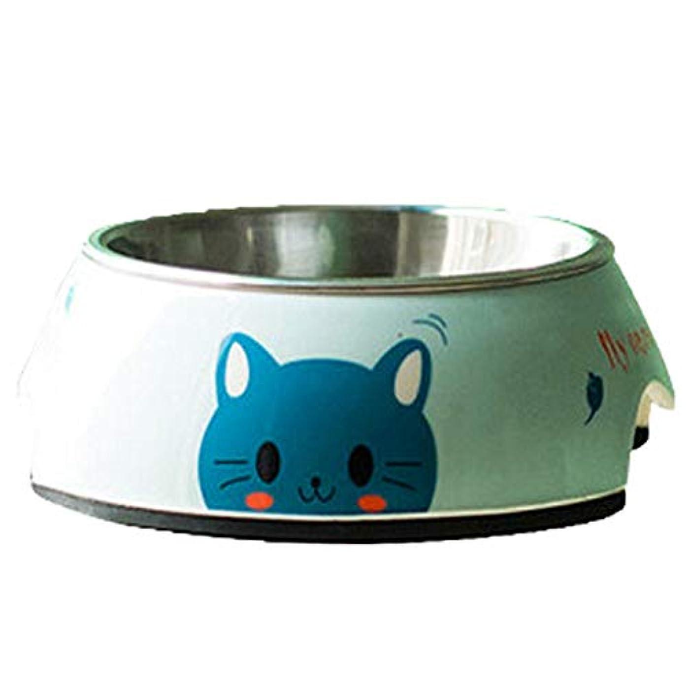 巻き取りハッピー流出Xian ペットボウル、塗装ペットステンレススチールフードボウル、猫と犬の給餌ボウル - 飲むボウルSコードボウル底直径 - 5.6インチ - 上直径 - 4.4インチボウルの高さ - 1.8インチ - 骨のパターン Easy to Clean Non-Skid Bowls for Dogs (PATTERN : Bluecat, Size : 7*5.6*2.6)