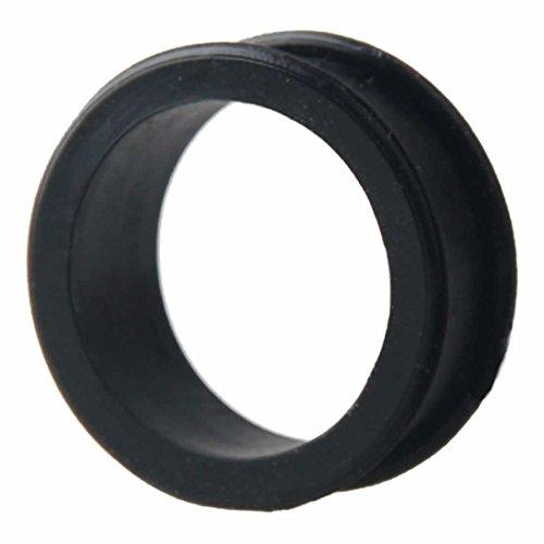 ボディピアス メンズ ソフトシリコン フレア ダブルフレア トンネル プラグ 埋め込みサイズ 16mm 16ミリ カラー ブラック 1個 片耳 バラ売り プレゼント 耳 人気