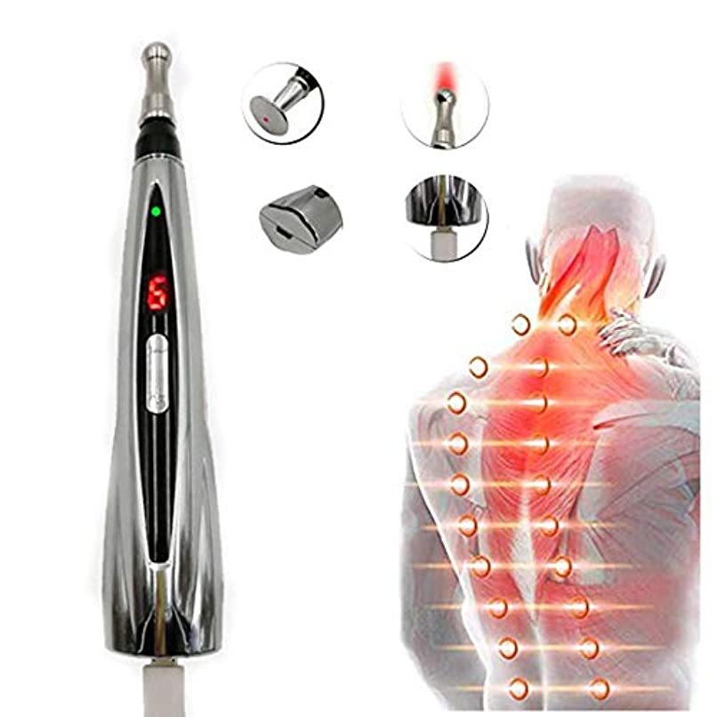 やがて警戒環境保護主義者電子鍼ペン、USB充電メリディアンペンハンドヘルドマッサージペン3種類のペン痛みストレス緩和のための電子鍼17.5cm * 3cmシルバー