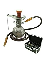 "Mya Saray The Bambino 11 "" SingleホースHookah withケース 11"" Tall ブルー"
