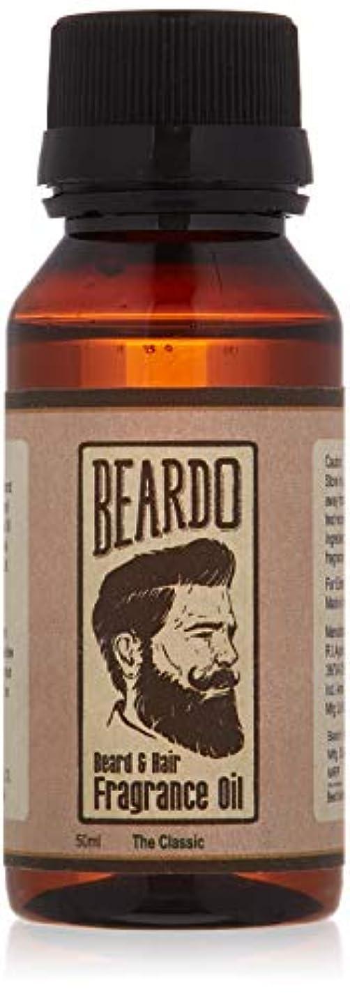分注する話すガラガラBeardo Beard and Hair Fragrance Oil (The Classic) 50ml With Natural Ingredients - Nutmeg, Vanilla and Lemon oil