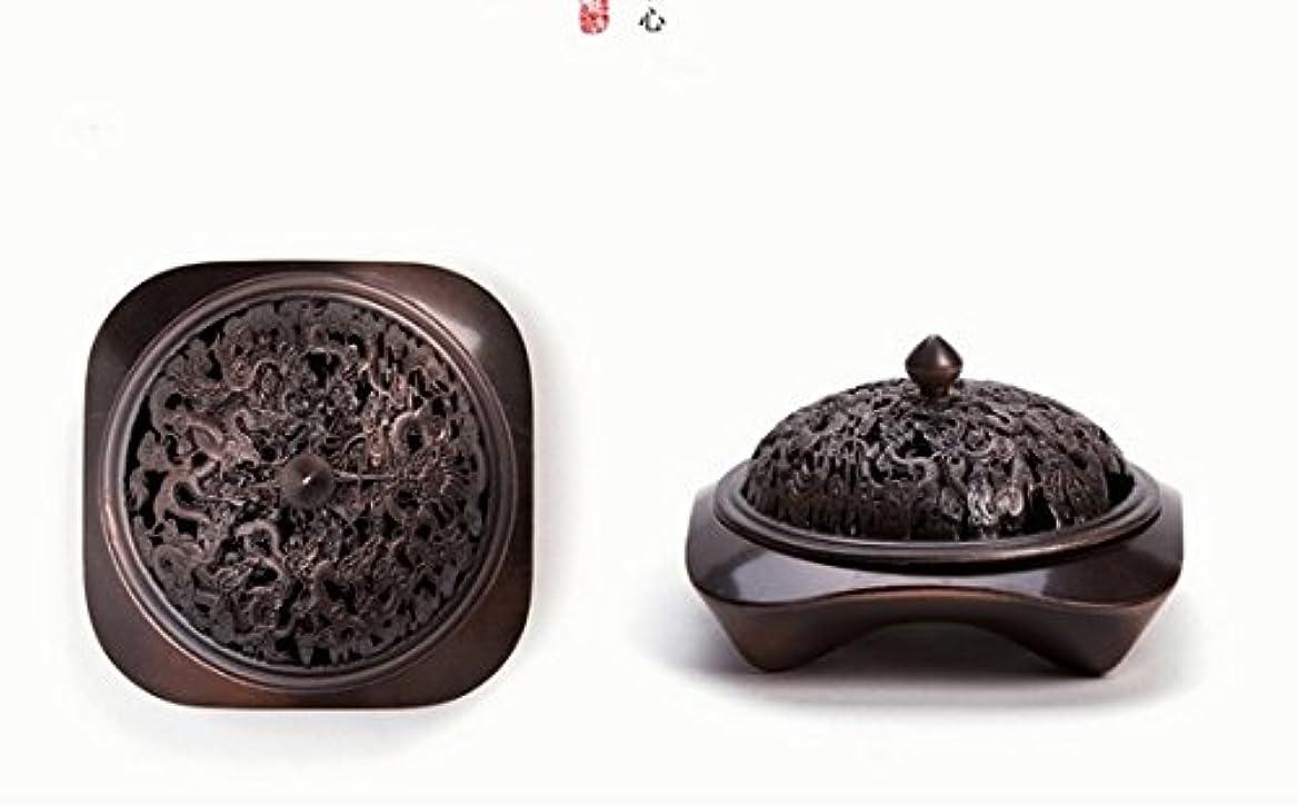 認める今まで収穫【Lenni】アロマ香炉 タワー香つき 纯铜工芸カバー 沉香熏香炉