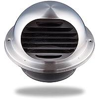 Hon&Guan 丸型フード付 ガラリ 換気口 100 ダクトファン 換気扇 ステンレス 防虫網付 換気部材(100mm…