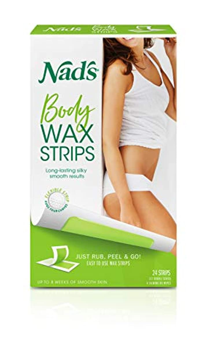 科学的テクスチャーからに変化するNad's Hair Removal Strips 24's for Body (並行輸入品)