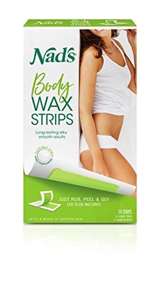 最小予測摂氏度Nad's Hair Removal Strips 24's for Body (並行輸入品)