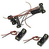 BestTong 10 PCS A23 Battery Holder, 12V Battery Holder, 23A Battery Holder, 12V Battery Case with Leads Wires