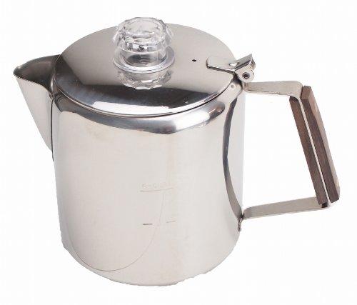 キャプテンスタッグ コーヒー ポット 18-8ステンレス製パーコレーター 6カップM-1224