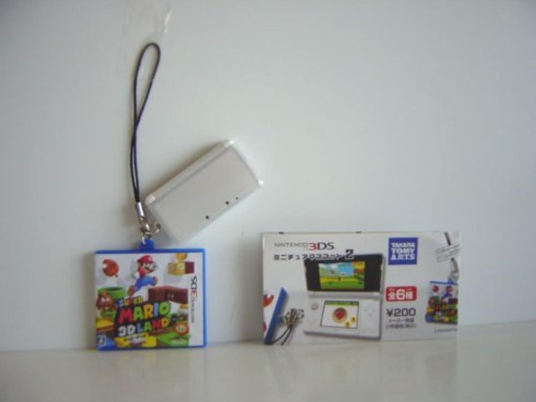 ニンテンドー3DS ミニチュア マスコット 2 1種 3Dランド全1種 1 ニンテンドー3DS(アイスホワイト)+ソフトケ