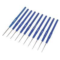 FLAMEER 工芸愛好家 編み針 かぎ針編み ハンドル 編み物 10個 持ちやすい 鈎針 工芸品 プラスチック鉄