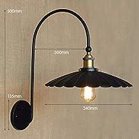 ZZXIA-壁ランプ 工業風機械灯復古欧米別荘客間レストランの鉄芸装飾壁ランプ,エー