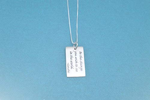 Sterling Silver Quote Charm. B...