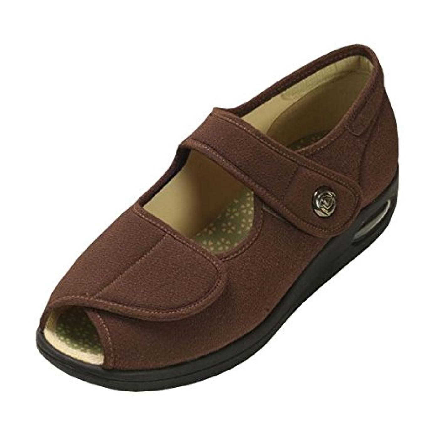 剣アイデアかなりのマリアンヌ製靴 彩彩~ちりめん~ W1103 婦人用 /23.0cm ブラウン ds-1431982