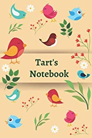 "Tart's Notebook: 120 Lined pages, (6""x 9""), Personalised Notepad/Notebook, Note Pad, Notes, Birt"
