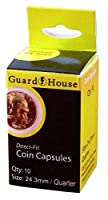 Guardhouse Quarter (24.3mm) Direct-Fit Coin Capsules - 10 Pack
