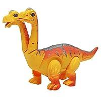 電気ウォーキングおもちゃ 恐竜モデル 電動おもちゃ 卵を産む恐竜フィギュア 8色選択 - 恐竜+オレンジ