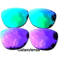 Galaxylense Men's Replacement Lenses For Oakley Frogskins Polarized Purple&Green