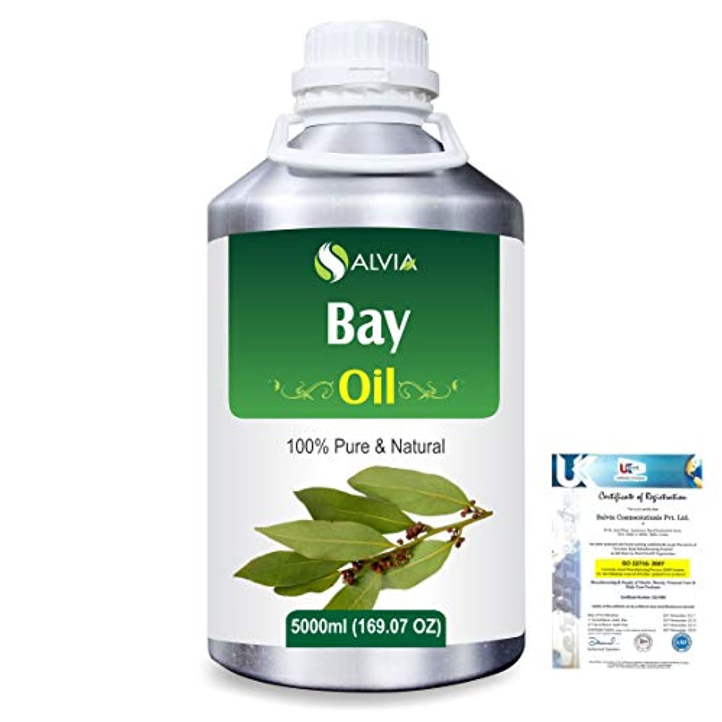 縮れたなめる見捨てるBay (Pimento racemosa) 100% Natural Pure Essential Oil 5000ml/169fl.oz.