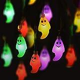 ストリングライト LEDライト クリスマス ハロウィン飾り Kukoyo 幽霊 イルミネーション LED電球 LED電飾 電池式 照明飾り 1.2m 10球 化け物屋敷 飾りライト 屋外 室内 新年会 結婚式 祭り パーティー装飾 LED デコレーション 誕生日 庭 広場 街路樹