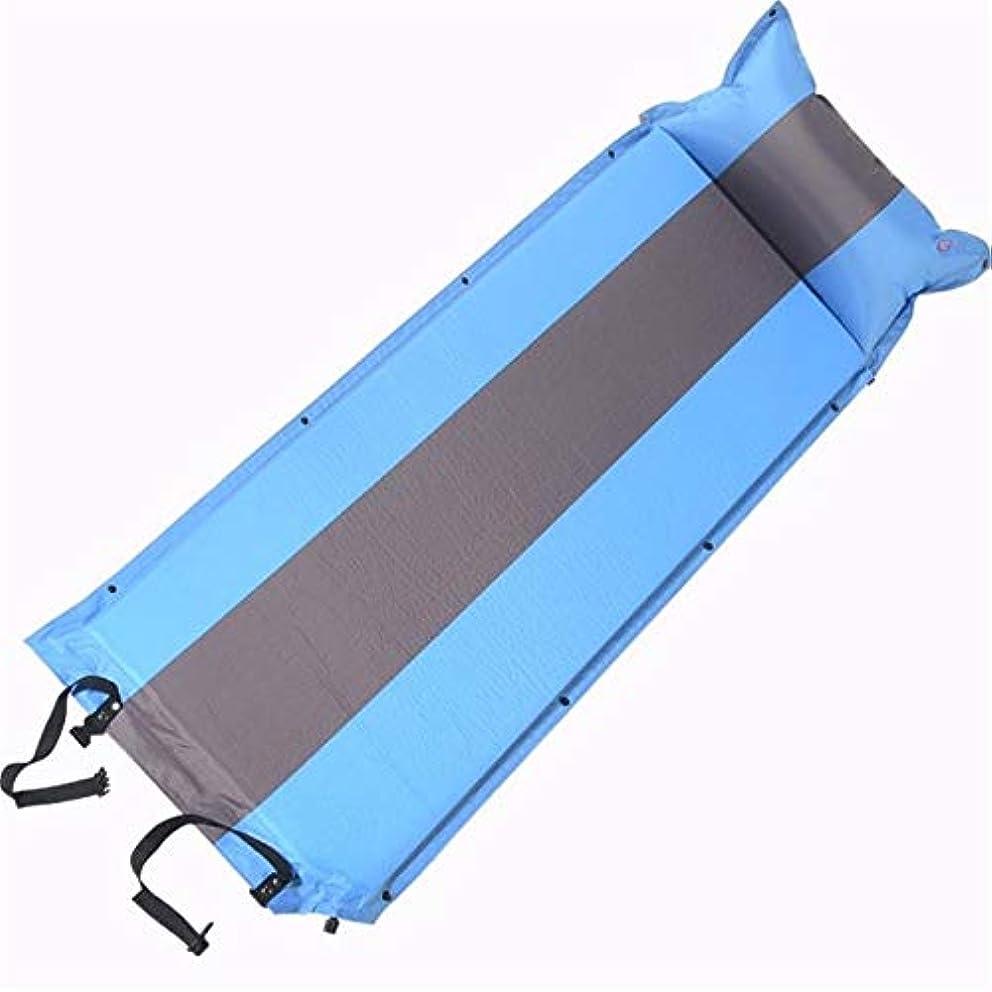 尋ねる拮抗エジプト人キャンプ用エアベッド コンパクトシングルテントフォームパッドライト屋外マットレスインフレータブル防水キャンプステッチ枕と枕 ポータブルエアマットレス (色 : Blue3, サイズ : 76.8*25.6*1.97inches)