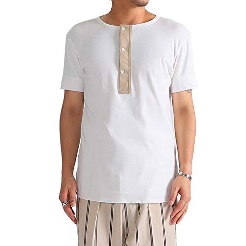 [ハバーサック] ヘンリーネック Tシャツ 811825 (メンズ) M White(01)