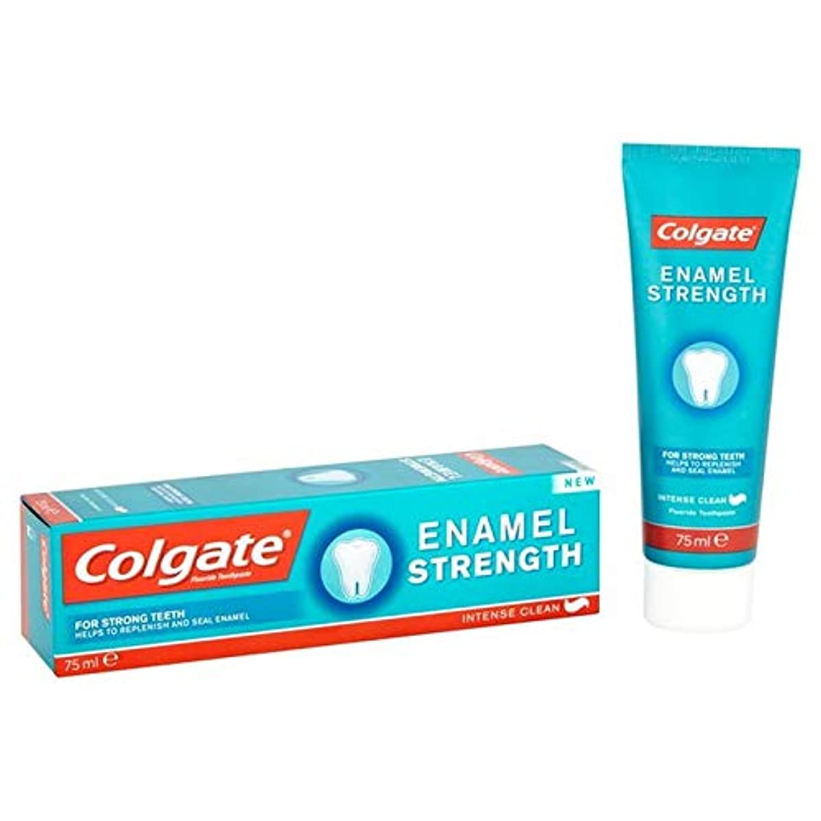 母音事故落ち着いた[Colgate ] コルゲートエナメル強度歯磨き粉75ミリリットル - Colgate Enamel Strength Toothpaste 75ml [並行輸入品]