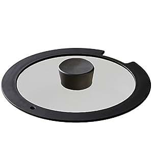 アイリスオーヤマ ガラス蓋 「ダイヤモンドコートパン」 20cm ブラック H-IS-GL20
