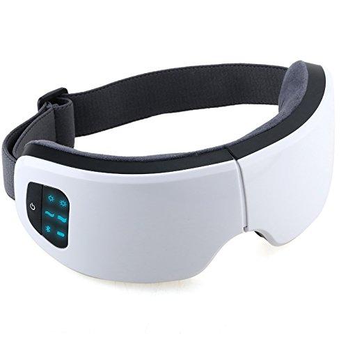アップグレード版高級Bluetooth音楽 温め機能 目部筋肉を運動させ ブルートォース接続 目元マッサージャー 目もとエステ 目マッサージ器 揉みマッサージャー マッサージチェア 電動マッサージ器 小型 電動美顔器 マイクロカレント 気圧. 静音.振動.快適.通気性 疲れ緩和 しわの除去 ストレス解消 血液の流れの促進 USB電源 ホワイト- (white)