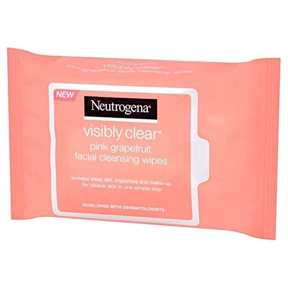 Neutrogena Visibly Clear Pink Grapefruit Wipes 25 per pack - ニュートロジーナ目に見えて明らかピンクグレープフルーツは、パックごとに25ワイプ [並行輸入品]