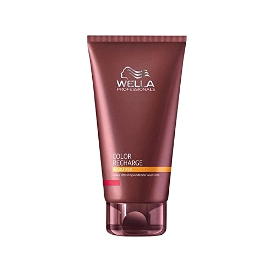 大邸宅しっとりタイムリーなウエラ専門家のカラー再充電コンディショナー暖かい赤(200ミリリットル) x4 - Wella Professionals Color Recharge Conditioner Warm Red (200ml) (Pack...