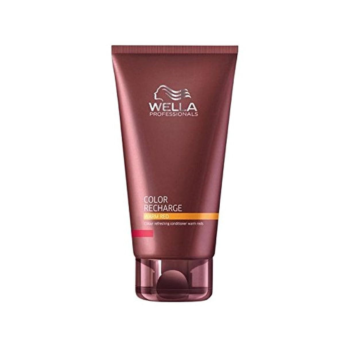 ファイナンス虚弱シーフードウエラ専門家のカラー再充電コンディショナー暖かい赤(200ミリリットル) x4 - Wella Professionals Color Recharge Conditioner Warm Red (200ml) (Pack...