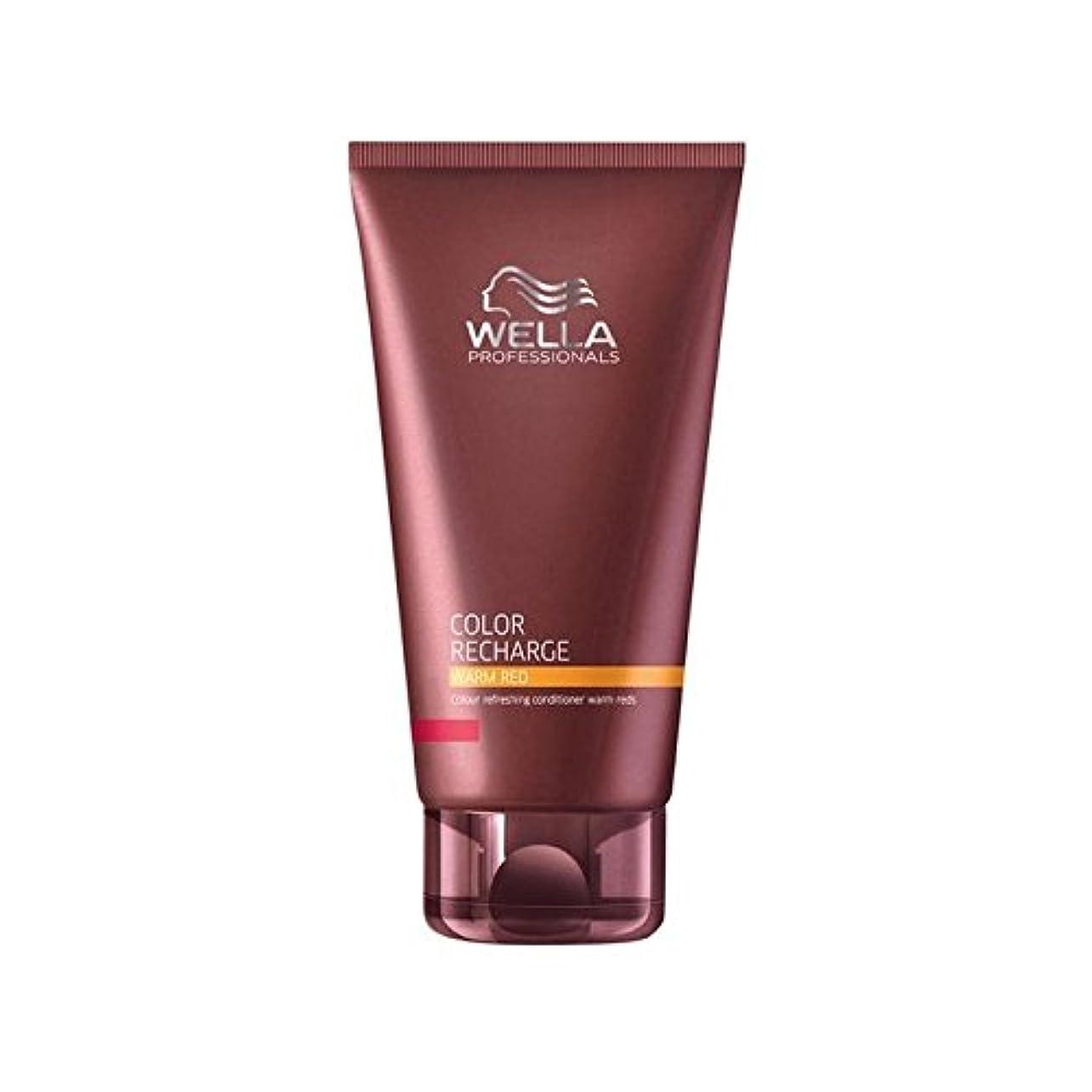 弱まる最後の剣ウエラ専門家のカラー再充電コンディショナー暖かい赤(200ミリリットル) x2 - Wella Professionals Color Recharge Conditioner Warm Red (200ml) (Pack...