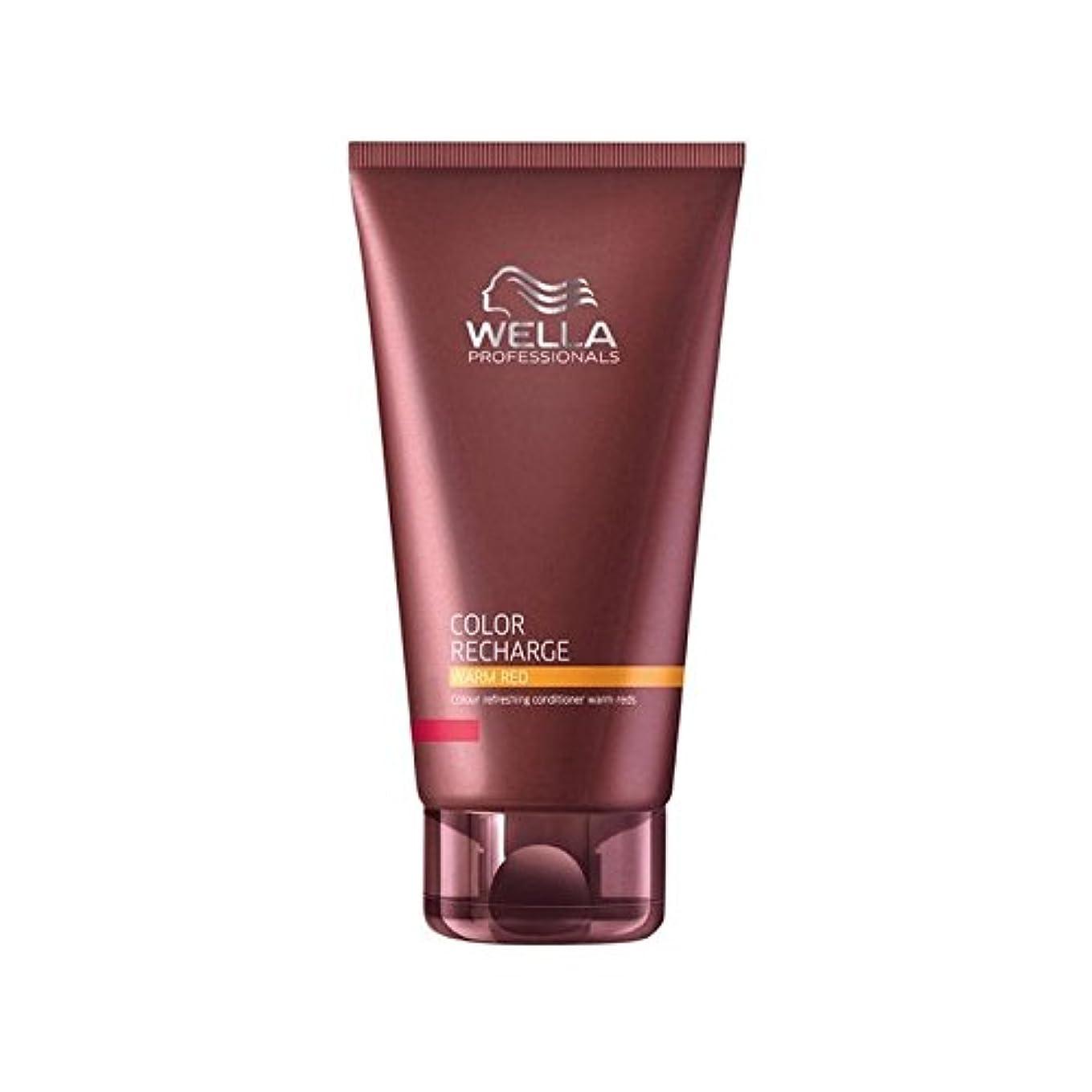 事実上加害者器用ウエラ専門家のカラー再充電コンディショナー暖かい赤(200ミリリットル) x4 - Wella Professionals Color Recharge Conditioner Warm Red (200ml) (Pack...