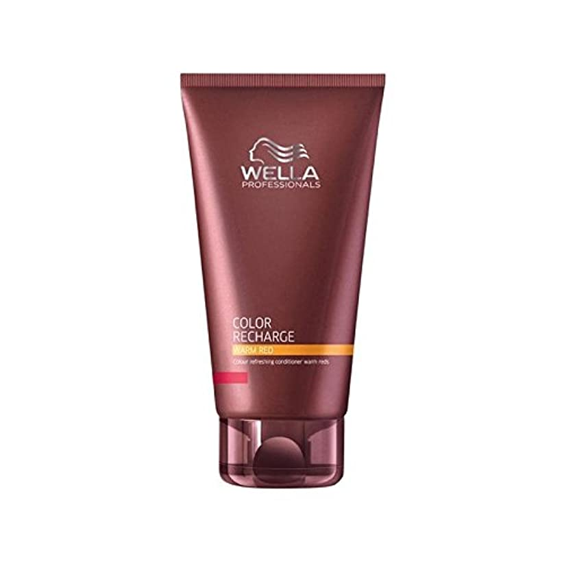 活気づく管理する不要ウエラ専門家のカラー再充電コンディショナー暖かい赤(200ミリリットル) x4 - Wella Professionals Color Recharge Conditioner Warm Red (200ml) (Pack...