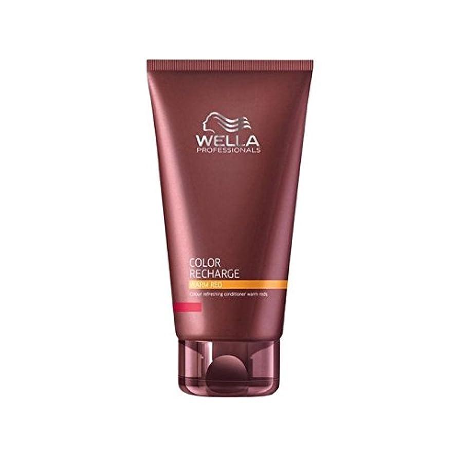 地中海ましいライオネルグリーンストリートウエラ専門家のカラー再充電コンディショナー暖かい赤(200ミリリットル) x4 - Wella Professionals Color Recharge Conditioner Warm Red (200ml) (Pack...