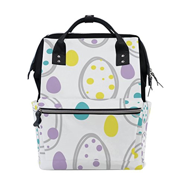 ママバッグ マザーズバッグ リュックサック ハンドバッグ 旅行用 イースターエッグ柄 可愛い ファション
